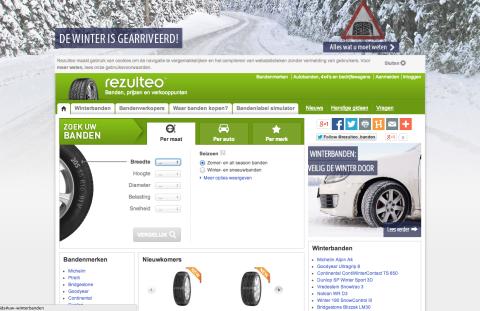 Rezulteo.com, website, banden, kopen, vergelijken