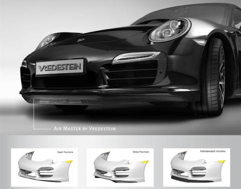 Air Master by Vredestein, spoiler, Porsche 911 Turbo, Apollo Tyres
