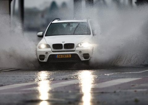 regen, auto, band, grip, nat wegdek