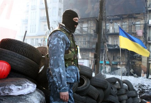 banden, protest, kiev