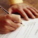 contract, handtekening