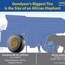 Goodyear, UltraLarge, Elephant, band, olifant, steengroeve, mijnbouw, bandenmaat