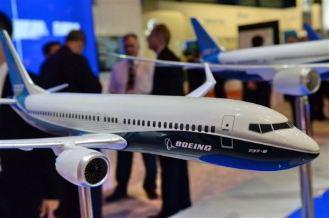 boeing 737, vliegtuig, passagiers
