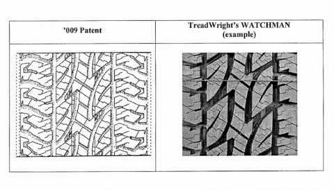 Bridgestone, TreadWright, patent, band, design
